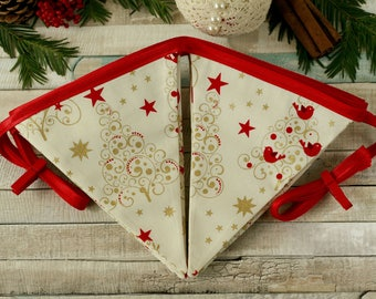 Holiday banner, Christmas flags, holiday bunting, Christmas home decor, Christmas bunting, holiday decorations, holiday garland, Xmas decor
