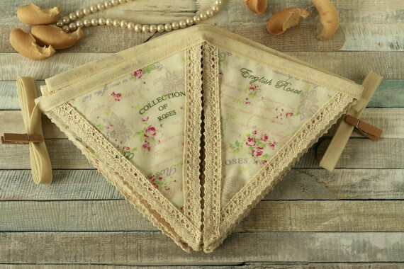 EXCELLENT condition used only once handmade double sided bunting