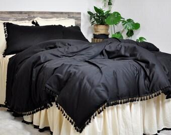 Black Bedding Etsy