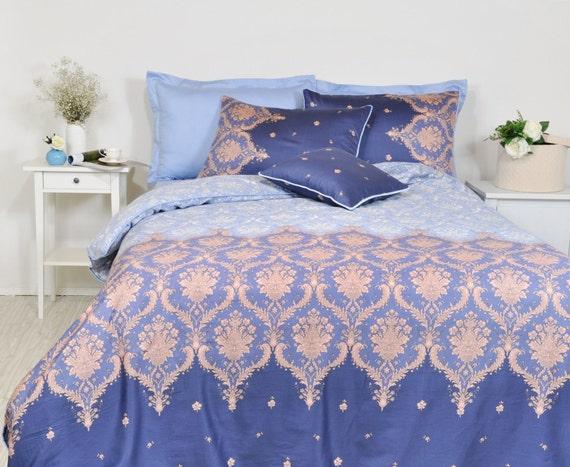 Blue Damask Bedding Navy Duvet Cover, Navy Blue Damask Bedding