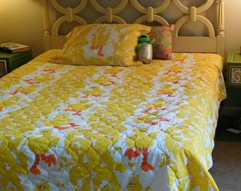 "Vintage ""Big Bird"" Sesame Street Twin Bedding Set"
