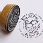 Photo Stamp//Wedding Stamp//Stamp Personalized with Your Photo, Face//Design Classic