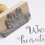 We marry stamp, wedding stamp, wedding invitation, invitation stamp, wood stamp for invitation, various sizes