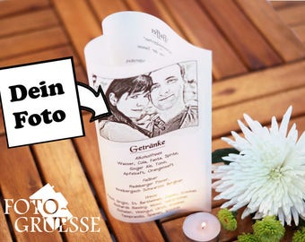 Foto-Windlicht, herzformig, personalisiert mit Eurem Foto