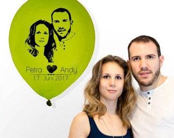 Bedruckte Luftballons mit Eurem Foto, Fotoluftballons  (Ø 30 cm), ab 50 Stück
