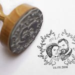 Photo Stamp-Face stamp-stamp personalized with your photo, photo, Face, Portrait, portrait stamp, bridal couple, picture