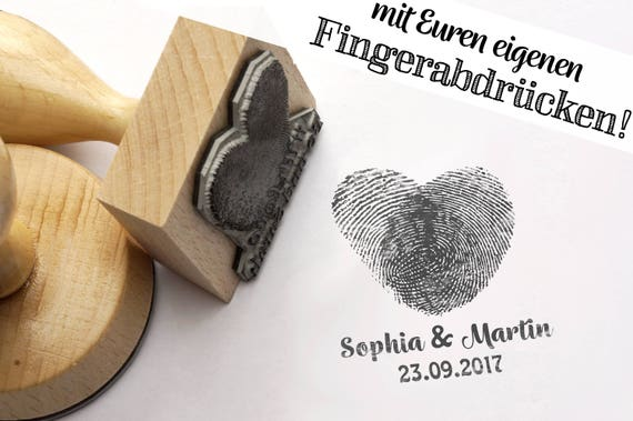 Fingerprint Stamp Heart Personalized With Your Own