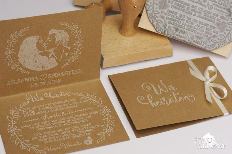 Set of 3x Wedding Invitation Stamps Wedding Stamp Custom image 0