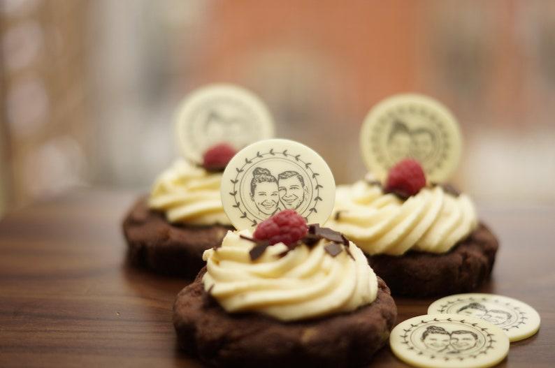 Foto-Schokoladenaufleger für Pralinen und Desserts mit Eurem image 0