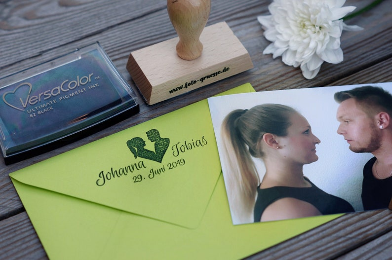 Photo Stamp with Your Silhouette  Personalized image 0