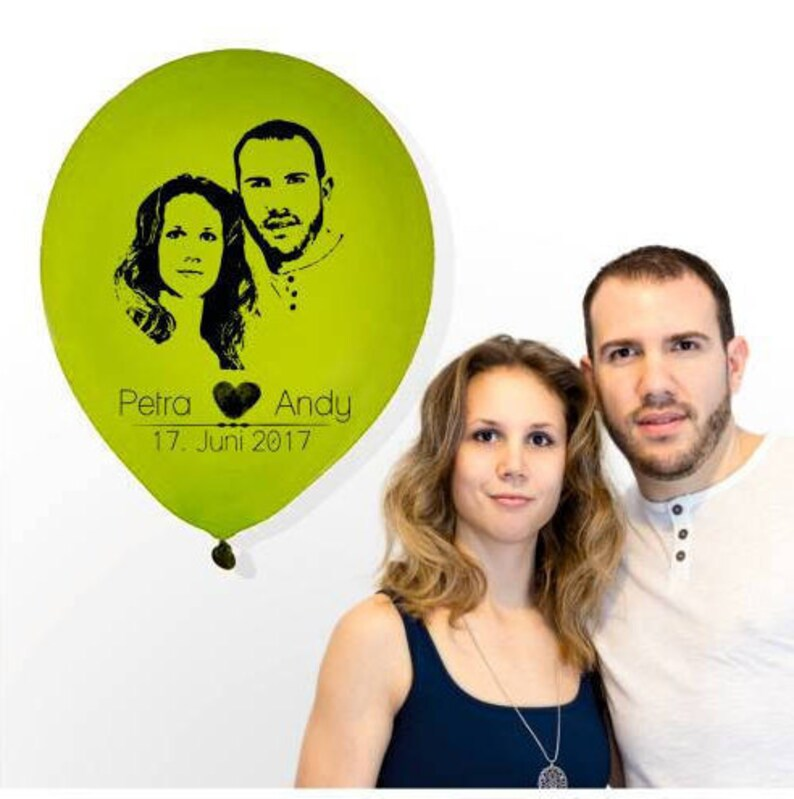 Printed balloons with your photo photo balloons Ø 30 cm image 0