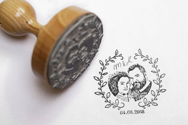 Photo Stamp//stamp personalized according to your photo/Design image 0