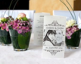 Photo candle personalized printed with your photo, table decorations wedding, wedding decor / / from 3,50EUR per piece