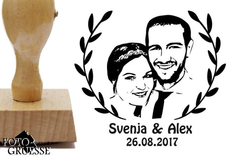 Photo stamp personalized with your Photo/Portrait image 0