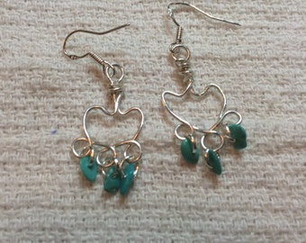 Tourquise and silver earrings