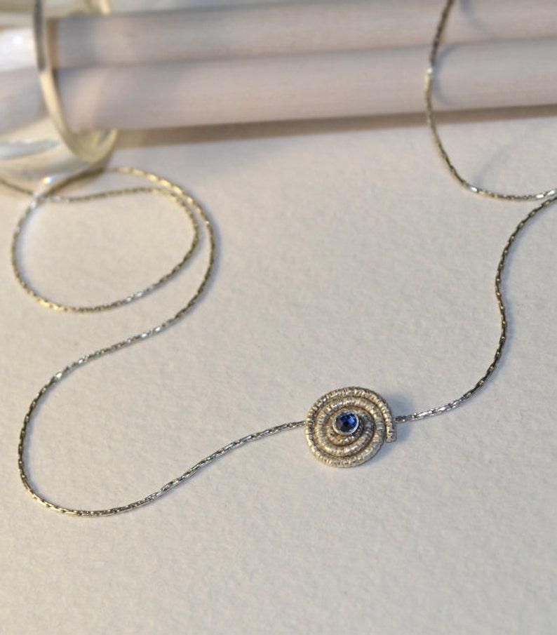 Sapphire Jewelry Gemstone Pendant Sapphire Necklace  Stone Necklace Gold Gem Necklace Sapphire Drop Necklace Tiny Necklace