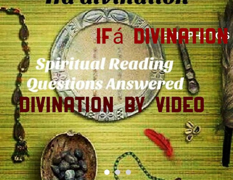 1 divination 2 hours video chat by babalawo or iyanifa Ifá Santería Lukumi,  Yoruba, Palo, Voodoo, Hoodoo reading & Video chat explanation