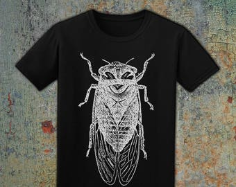 CICADA - Men's T-Shirt // Forest & Nature Lovers // Highly Detailed Illustration // Outdoorsman // Unisex Tee // 100% Cotton