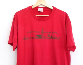 Vintage Buda Texas Red T Shirt / Large / Vintage Tourist Shirt