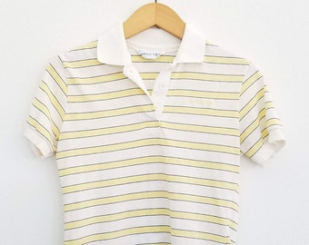 37937292 Vintage 90s Adidas Striped Fitted Polo Shirt / Medium / Women's Vintage  1990s Adidas Striped Shirt