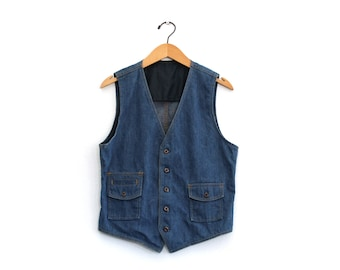Vintage 70's Lee Set Denim Vest / 40 R / Made in USA