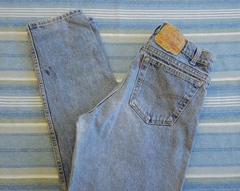 Vintage 80s Levi's 550 Denim Blue Jeans / 32 x 32 / Vintage Made in USA Levi's High Rise Mom Jeans