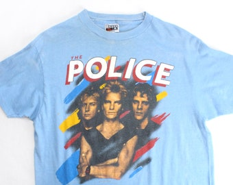 Vintage 80's The Police Synchronicity 1983 Band Tour T Shirt / Medium / Super Soft!