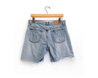 1e12ecfe Vintage 90's J Crew Cut Off Jean Shorts / Size 10 / Made in USA