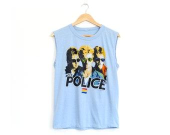 Vintage 80's The Police Synchronicity 1983 Band Tour T Shirt / Medium / Super Soft!