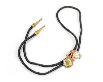 Vintage Gold Tone Buffalo Nickel Bolo Tie