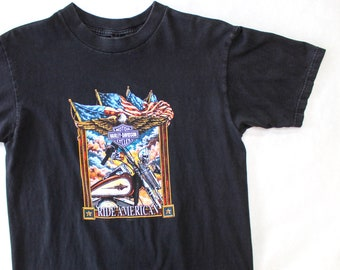 Vintage 90's Harley Davidson Ride American Shirt / Medium / Made in USA