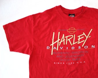 Vintage 90's Harley Davidson Las Vegas Red Shirt / XL / Made in USA
