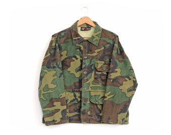 Vintage Redhead Camouflage Army Style Green Camo Hunting Jacket / XL / Perfectly Worn!