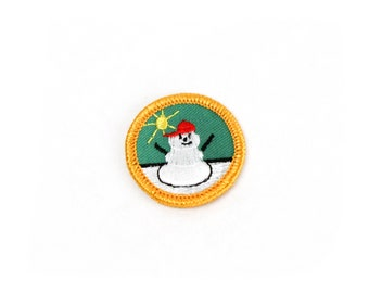 Vintage Girl Scout Badge Embroidered Sew-On Patch