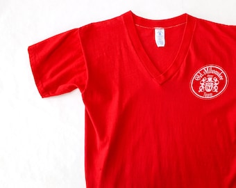 0330ecca Vintage 70's Old Milwaukee Beer V Neck T Shirt / Small / Single Stitch &  Super