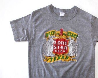Vintage 80's Lone Star Beer Shirt / XS / Made in USA / Super Soft!