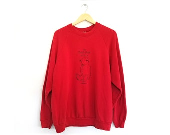 Vintage Oversize Cute Teddy Bear Museum Sweatshirt / Large / Vintage Crewneck Sweatshirt