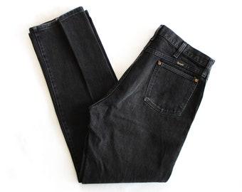 Vintage Wrangler Black Denim Jeans / 33 x 33 / Made in USA