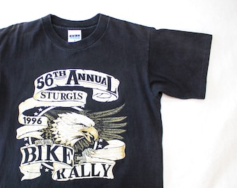 Vintage 90's 56th Annual Sturgis Black Hills Bike Rally 1996 Motorcycle Eagle Shirt / Medium / Made in USA