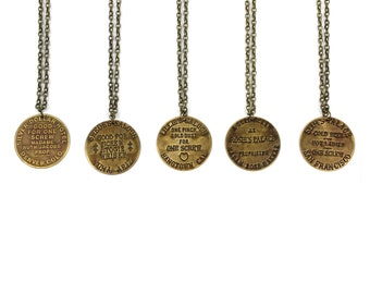 Brothel Token Brass Chain Necklaces
