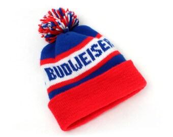 Vintage Budweiser Beanie Knit Hat
