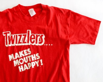 Vintage Red Twizzlers Shirt / Small / Super Soft!