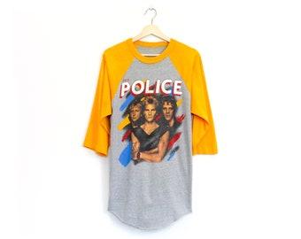 Vintage 80's The Police Synchronicity 1983 Band Tour Raglan Shirt / Medium / Super Rare!