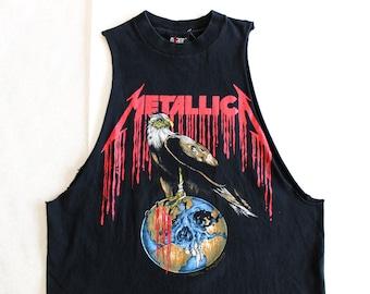 Vintage 90's Metallica Nowhere Else to Roam Pushead Shirt / Large / Original 1994 VTG Metallica Band Tee