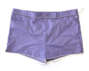 ce27a05722 Vintage Deadstock Purple Jantzen Swim Trunks / New with Original Tags  Vintage Lined Men's Swim Shorts