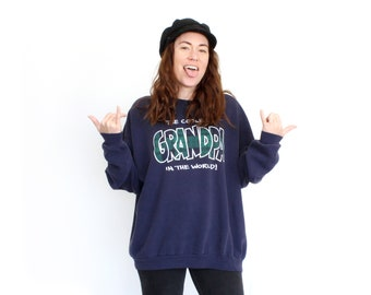 Vintage 80's Coolest Grandpa in the World Sweatshirt / Super Soft!
