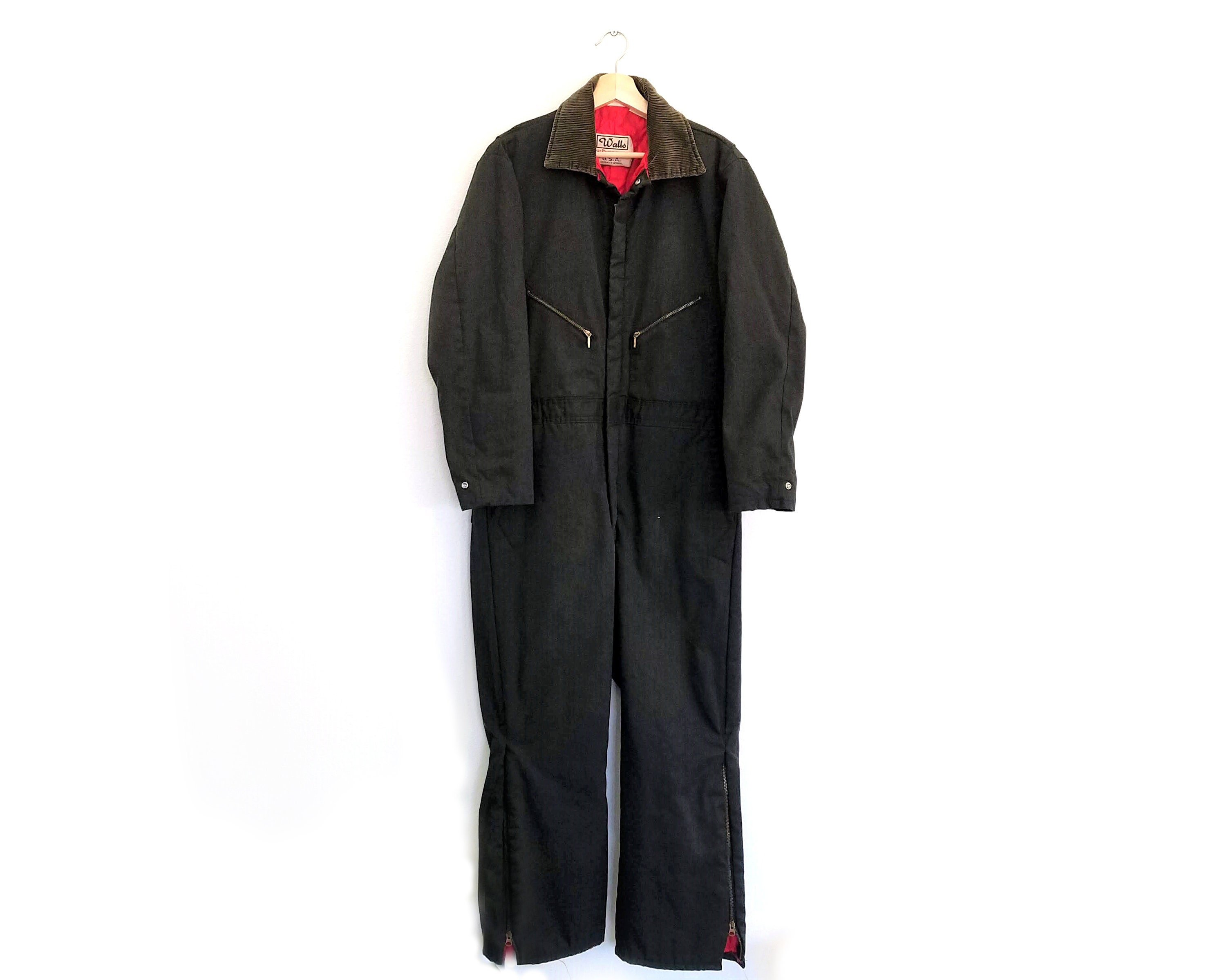 036a9a2aa4162 Vintage Walls Blizzard Pruf Insulated Coveralls / Large / Vintage Snow Suit  & Work Wear