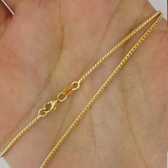 14K Boucle d/'oreille créoles jaune or véritable Diamond Cut 25 mm 1.8 G