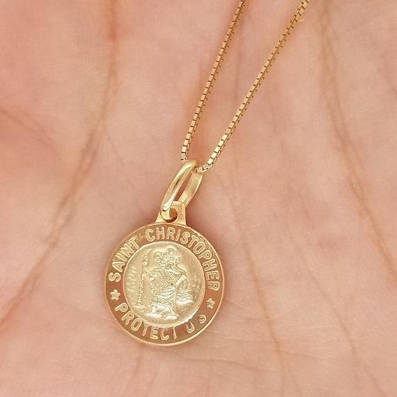 Christopher Medal 14kt Gold St
