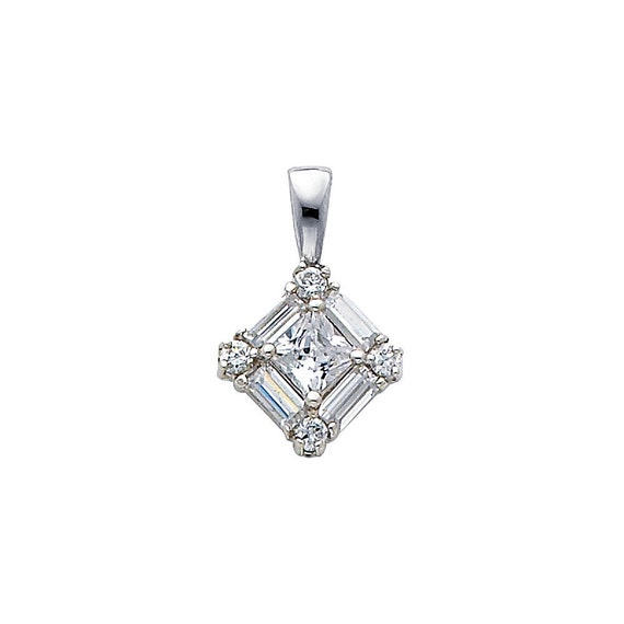 0.25 Ct Round Cut Simulated Diamond Heart Dangle Earrings 10K White Gold